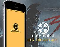 Cinemalist ios7 app concept