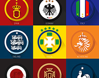 FIFA WORLD CUP 2014 FLAT ICON