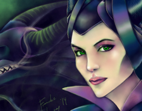 Digital Illustration: Maleficent