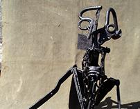 Recycled metal - various sculptures