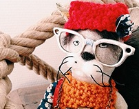 The Hipster Cat Doll