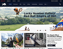 One Page Website - Red Bull Webdesign