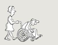 Wheelchair handle