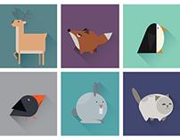 Geometric animals icons