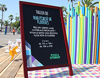 Festa de la Sostenibilitat (señalización fiesta)