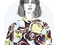 Personal project - MSGM Collection illustration