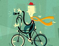 Bike Friendly Book Illustration