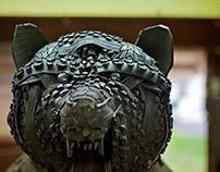 Tire Sculpture: Bear