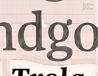Handmade Poster for Bulo & Trola Typefaces