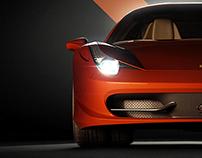 Ferrari 458 Italia 3D Visualization