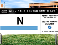 BYU-Idaho Parking Signage