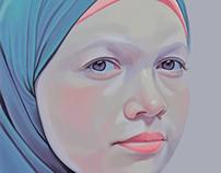 Digital Painting .. Azza