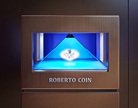 Roberto Coin - Holographic CG Jewelry DIsplay