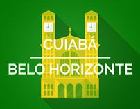 Brazil 2014 Host Cities - Cuiabá & Belo Horizonte
