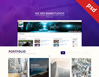 Soar Website Design (FREE PSD)