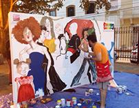 Transitando primera exhibición de murales alternativos