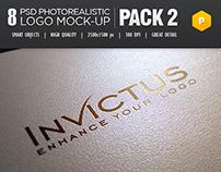 8 Photorealistic logo Mock-Up Pack 2