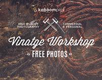 FREE PHOTO PACK - VINTAGE WORKSHOP