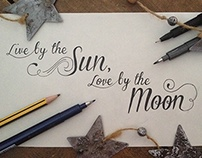 Love By The Moon // Lettering