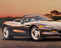 "Corvette Sting Ray III"", car illustration (1993)"