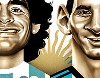 Brasil 2014 caricatures #MuyHermano
