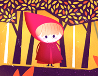 Little Red Ridding Hood - Children's Illustrations