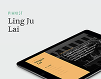 Classical Pianist Wordpress Site Design - Lingju Lai