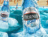 Blue Ice Bottle. Sab Miller