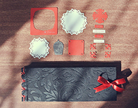 Black / Scarlet Scrapbook
