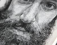 Sketchbook Portrait Project:  The Beard