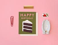 Cream Cake Birthday Card