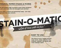 Stain-O-Matic paper stains and marks