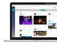 Livonair - New social network concept - website version