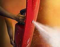 Shield extinguisher