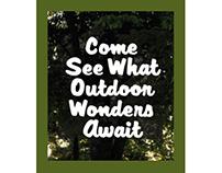Brochure design for Jenkins Creek Adventures