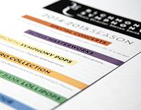 Symphony 2014–2015 Season Rack Card