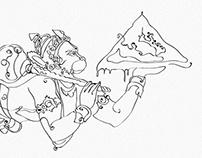 Jai Hanuman - series illustrations