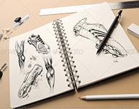 Sketchbook Mock-up PSD