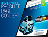 Twingo Product page concept - 2014