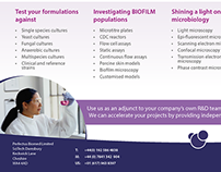 Flyers for Perfectus Biomed sectors