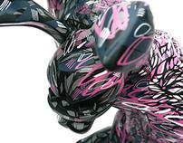 Pink Paw - Custom Coarse Raw Paw