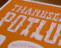 Annual Thanksgiving Potluck Invitations