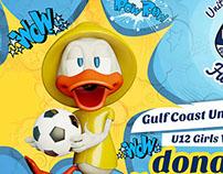 Dizzy Duck Speedy Carwash advertising