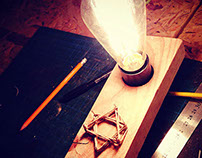 DIY Lamp in memory of IL soldiers killed in Gaza  2014