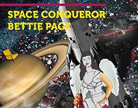 Space Conqueror Bettie Page   Recorte e Ilustração
