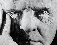 Anthony Hopkins, pencil portrait