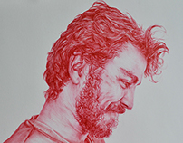 Red Biro: Portrait of my Brother