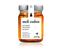 meli eubea (pure greek honey) // label