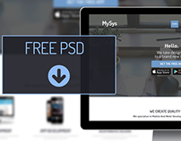 Flat corporate website Psd for free.