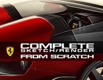 Complete Ferrari Sketch/Render video